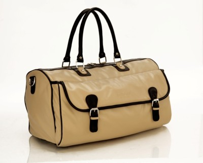 Mboss Multi Use Faux leather Unisex Cream Small Travel Bag   Medium Beige Mboss Small Travel Bags