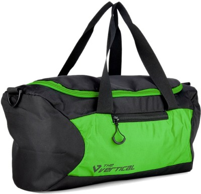 The Vertical IMPETUS Travel Duffel Bag(Black, Green) at flipkart