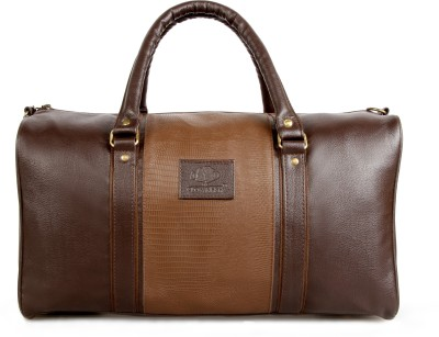 The Clownfish 18 inch/45 cm Brown Duffle Bag  Deluxe  Travel Duffel Bag   Brown  The Clownfish Duffel Bags