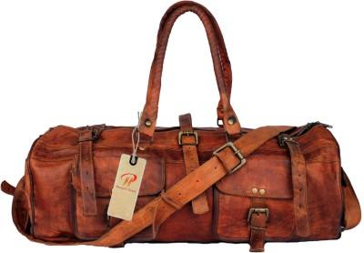 Pranjals House vintage handmade Travel Duffel Bag Brown