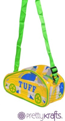 Pretty Krafts 16 inch/40 cm B1101_Yellow Travel Duffel Bag Yellow