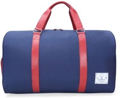 31eb48be02ca Buy Bare Skin BLUE DANIER RED LEATHER DUFFLE BAG 20 inch 50 cm Travel  Duffel Bag(Blue) on Flipkart