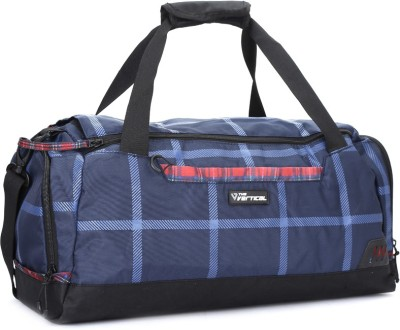 The Vertical CHEQUERED Travel Duffel Bag(Blue) at flipkart
