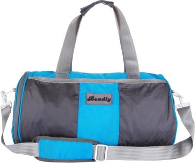 0b325d0410 30% OFF on Bendly Round Gym 17 inch 43 cm Travel Duffel Bag(Blue) on  Flipkart