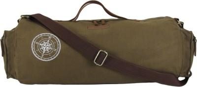 The House of Tara Waxed Canvas Duffle/Gym Bag Travel Duffel Bag Brown The House of Tara Duffel Bags
