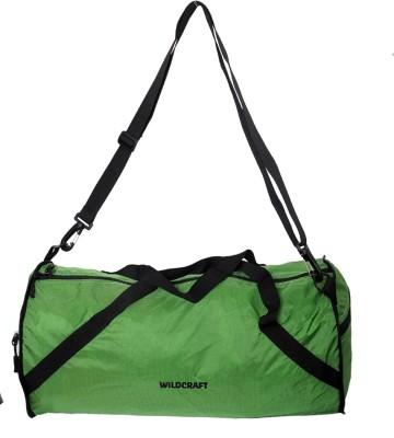 Wildcraft 10 inch/25 cm (Expandable) Carak Green Travel Duffel Bag(Green)