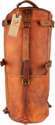Pranjals House vintage handmade leather duffle cum backpack Travel Duffel Bag Brown Pranjals House Duffel Bags