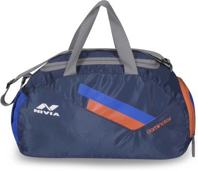 Nivia Dominator Multi Purpose Bag Small Travel Duffel Bag Blue, Kit Bag Nivia Gym Bag