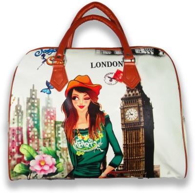 Best Bags London Digital Print Travel Duffel Bag Multicolor