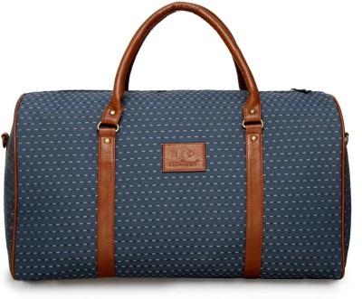 The Clownfish Artificial Leather Duffel Luggage Cabin Bag Travel Duffel Bag Blue