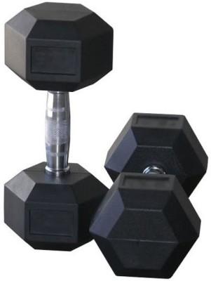 Protoner Rubber Hexagonal 2.5 kg Pair Fixed Weight Dumbbell(2.5 kg)