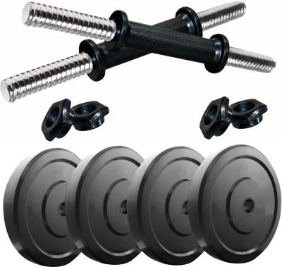 Kobo 8 Kg Home Gym Rubber Combo Dumbbells Rod Set Exercise & Fitness Adjustable Dumbbell(8 kg)  available at flipkart for Rs.1209
