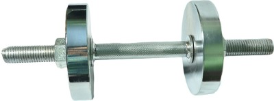 Royal 1pc Silver Handle + 1.5kg_2pc _Chrome Silver Plates Adjustable Dumbbell 3 kg