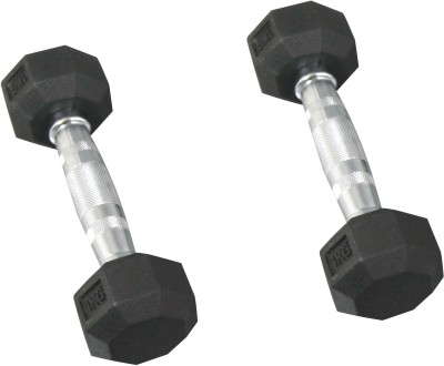 Fit Next Taiwan Hexagon Rubber Fixed Weight Dumbbell(1 kg)