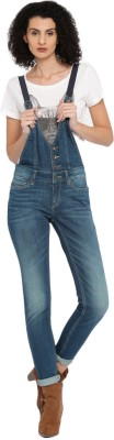 Roadster Women Blue Dungaree at flipkart