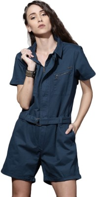 Roadster Women Blue Romper at flipkart