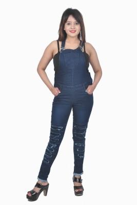 Nifty Women Blue Dungaree at flipkart
