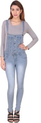 Manash Fashion Women Grey Dungaree at flipkart