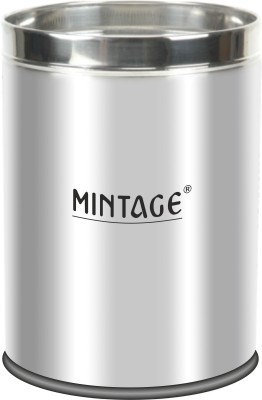 Mintage Paper Bin Set(Solid) Stainless Steel Dustbin(Silver, Pack of 3) at flipkart