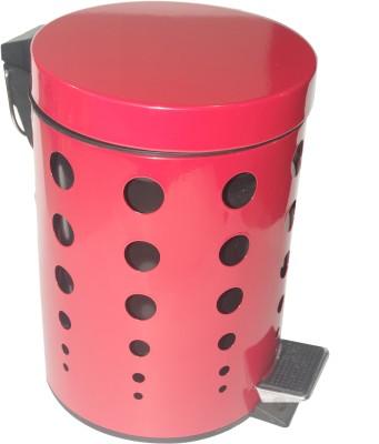Gran Stainless Steel Dustbin(Red)