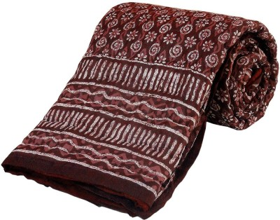 Little India Floral Single Quilts & Comforters Maroon(Quilt)