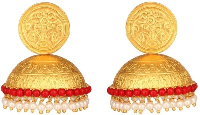Mirror White Coral Bell Jhumki Earrings Silver Jhumki Earring at flipkart