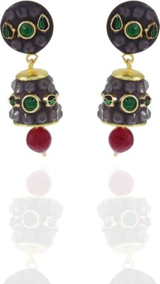 Frabjous Rudraksha Alloy Drop Earring