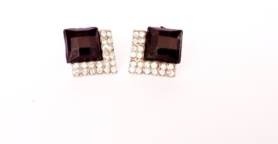 Kundaan Black Beauty Crystal Alloy Stud Earring at flipkart