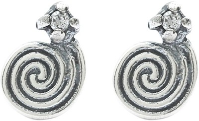 Hawai Snail Pattern Silver Stud Earring at flipkart