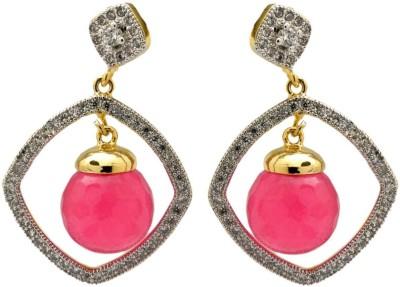 YugshaJewels Elegant YJE-1439 Pearl, Cubic Zirconia Brass Drop Earring