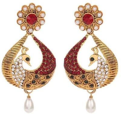 Jewels Guru Zircon Alloy Chandbali Earring at flipkart