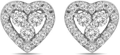 Voylla Swarovski Crystal Sterling Silver Stud Earring at flipkart