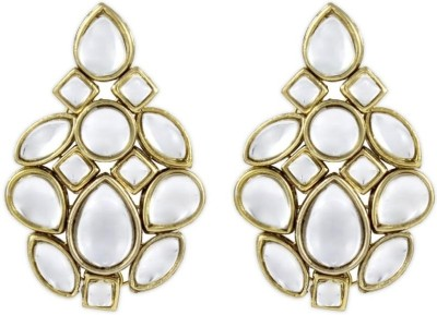 Karatcart Dazzling Kundan Brass, Alloy Drops & Danglers at flipkart