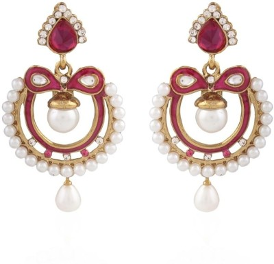 I Jewels Ramleela Alloy Chandbali Earring  available at flipkart for Rs.211