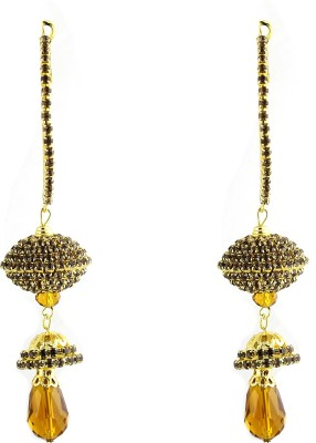 Sewad Artificial Gold Colored Hoop With Jumki (BID1151A) Zircon Copper Jhumki Earring at flipkart