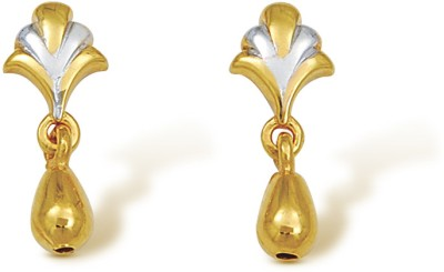 Nishtaa Yellow Gold 22kt Drop Earring