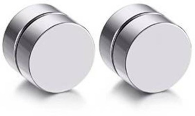 Vaishnavi First Quality Pair Never Rusts Original Non-Pierced Stainless Steel Magnetic Earring at flipkart