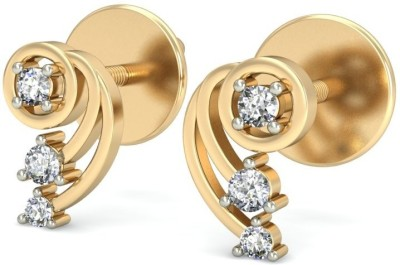 Belle Diamante Yellow Gold 14kt Stud Earring