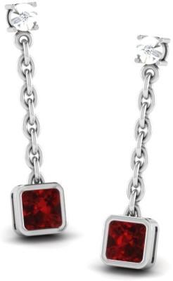 His & Her Beautiful Diamond Sterling Silver Drop Earring at flipkart