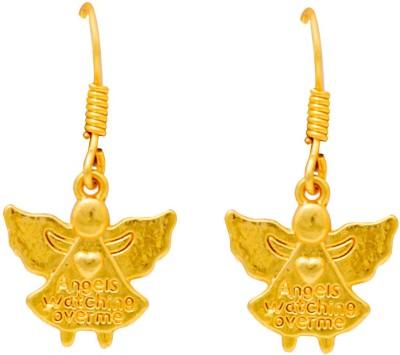 Ijuels Angels Bell Charms German Silver Drops   Danglers Ijuels Earrings