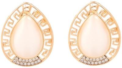 GoldNera Monalisa Versacce Styel Alloy Stud Earring GoldNera Earrings