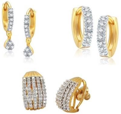 JEWELS GURU Diva Style Zircon Alloy Earring Set JEWELS GURU Earrings
