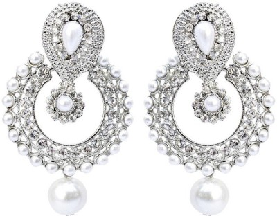 Jewels Capital Diva Style Pearl Alloy Chandbali Earring at flipkart