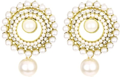 1976 Jewels Pearl Sparkle Alloy, Metal Drop Earring  available at flipkart for Rs.265