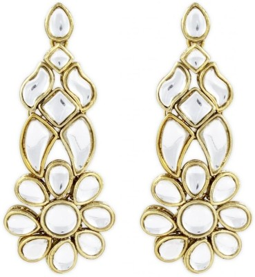 Karatcart Ethnic Kundan Alloy Drops & Danglers at flipkart