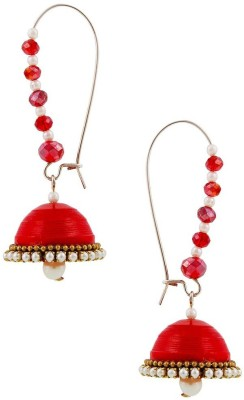 Halowishes Fancy Hancrafted Kidney Hook Jhumka Paper Hoop Earring  available at flipkart for Rs.289