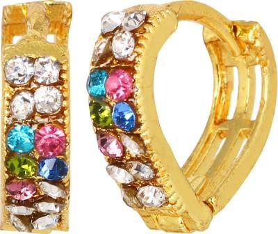 GoldNera Multi studded Brass Huggie Earring GoldNera Earrings