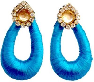 TrendyTrendy TrendyTrendy Silk Thread Jhumka-Blue chandbali Plastic Jhumki Earring  available at flipkart for Rs.120