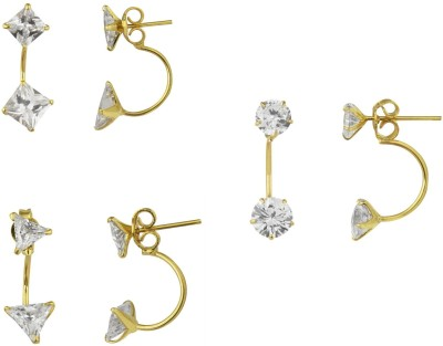 Archi Collection Solitaire Cubic Zirconia Alloy Earring Set Archi Collection Earrings
