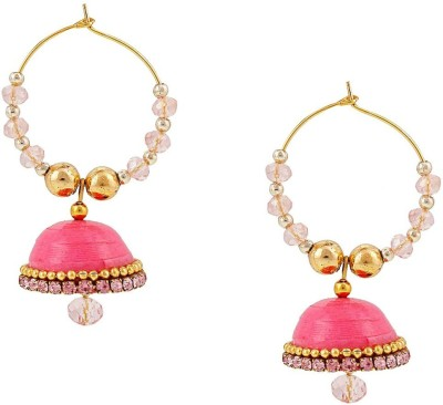 Halowishes Elegant Look with Clip-on Earring Hancrafted Baali Jhumka Paper Jhumki Earring  available at flipkart for Rs.279